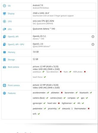 nokia tablet especificaciones