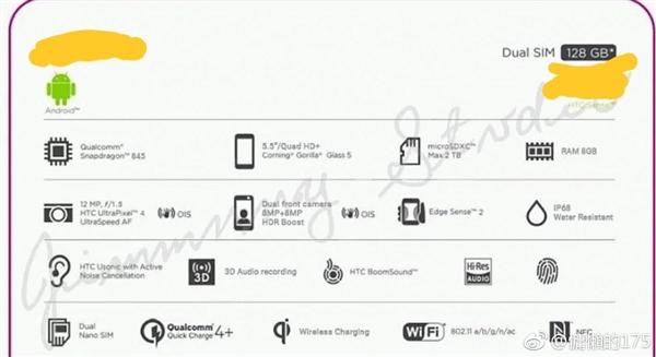 HTC U12 PLUS especificaciones