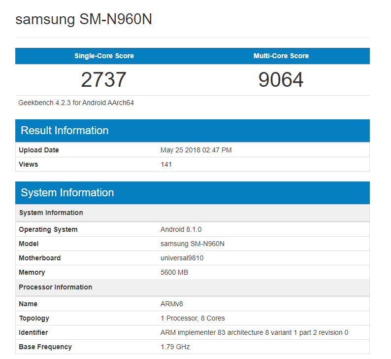 Galaxy-Note-9-Exynos-Geekbench