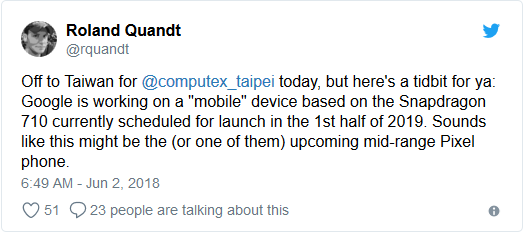 Screenshot-2018-6-2 Rumor Mill Google Working On Snapdragon 710 Device, Set To Launch H1 2019 - Gizmochina
