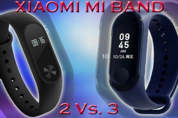 Xiaomi Band 2 vs 3