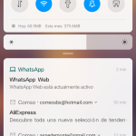 MIUI 10 barra de notificaciones