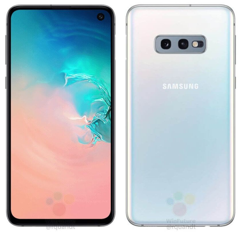 Samsung-Galaxy-S10e-White-front-and-back