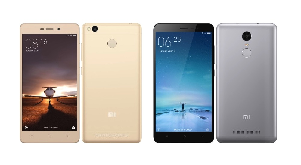 Xiaomi Redmi 3 y Redmi Note 3